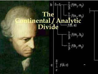 The  Continental / Analytic  Divide