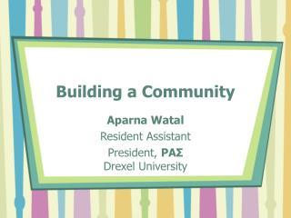 Building a Community