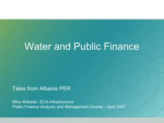 Water and Public Finance