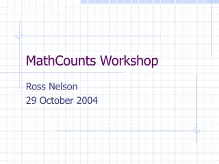 MathCounts Workshop