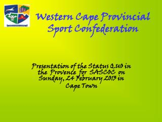 Western Cape Provincial Sport Confederation