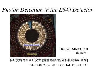 Photon Detection in the E949 Detector