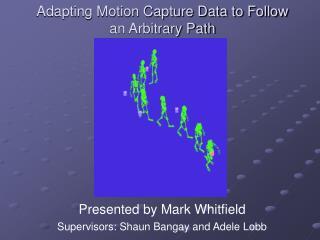 Adapting Motion Capture Data to Follow an Arbitrary Path
