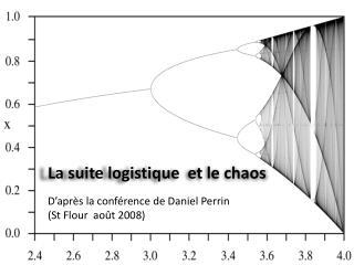 La suite logistique  et le chaos    D apr s la conf rence de Daniel Perrin  St Flour  ao t 2008