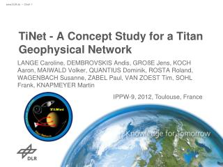 TiNet  - A Concept Study for a Titan Geophysical Network