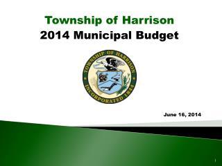 2014 Municipal Budget