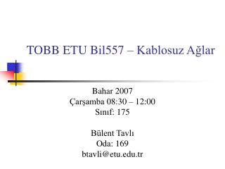 TOBB ETU Bil557