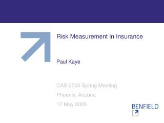 Risk Measurement in Insurance