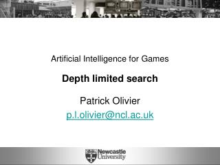Artificial Intelligence for Games Depth limited search