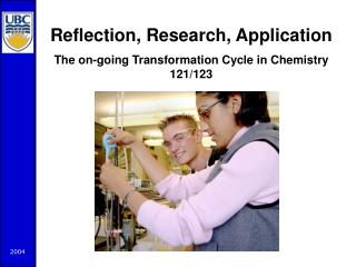 Reflection, Research, Application The on-going Transformation Cycle in Chemistry 121/123