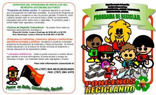 Estado Libre Asociado de Puerto Rico Municipio Autónomo de Ponce