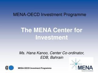 MENA-OECD Investment Programme