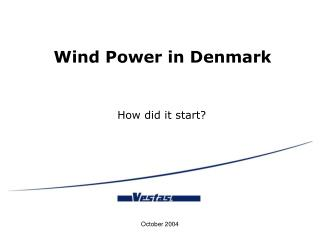 Wind Power in Denmark