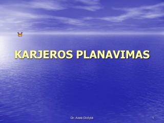KARJEROS PLANAVIMAS