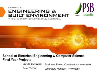 School of Electrical Engineering & Computer Science Final Year Projects
