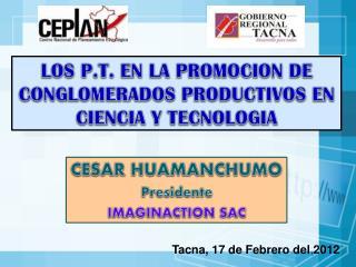 LOS P.T. EN LA PROMOCION DE CONGLOMERADOS PRODUCTIVOS EN CIENCIA Y TECNOLOGIA