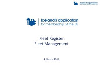 Fleet Register   Fleet Management 2 March 2011