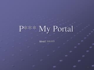 P My Portal