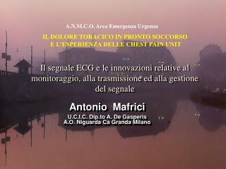 Antonio  Mafrici U.C.I.C. Dip.to A. De Gasperis A.O. Niguarda Cà Granda Milano