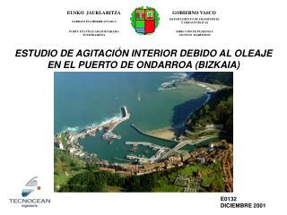 ESTUDIO DE AGITACI�N INTERIOR DEBIDO AL OLEAJE EN EL PUERTO DE ONDARROA (BIZKAIA)