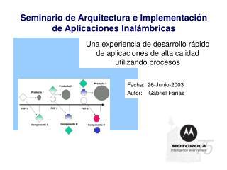 Una experiencia de desarrollo rápido de aplicaciones de alta calidad utilizando procesos