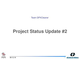 Project Status Update #2