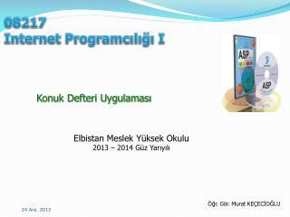 08217 Internet Programcılığı I