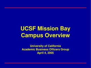 UCSF Sites