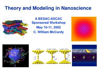 Theory and Modeling in Nanoscience