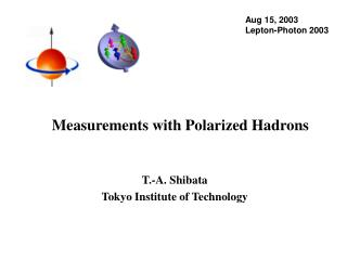 Measurements with Polarized Hadrons