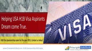 US H1B Visa | Immigrant H1B Visa | H1B Visa Sponsors 2015 |