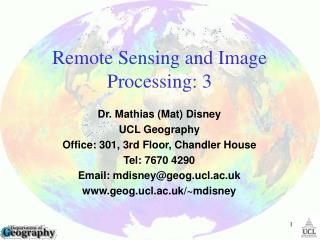 Remote Sensing and Image Processing:  3