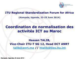 Coordination de normalisation des activités ICT au Maroc