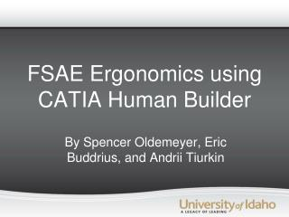 FSAE Ergonomics using CATIA Human Builder