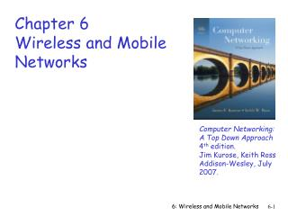 Chapter 6 Wireless and Mobile Networks 2nd draft