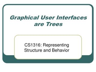 Graphical User Interfaces are Trees