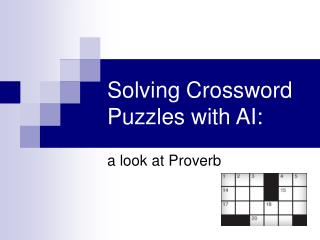 Solving Crossword Puzzles with AI: