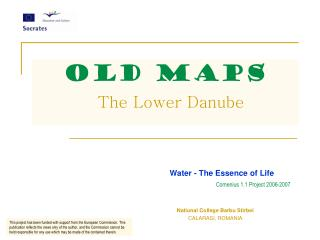 OLD MAPS The Lower Danube