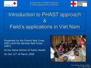 Introduction to PHAST approach  &  Field's applications in Viet Nam