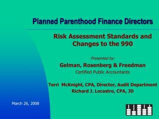 Planned Parenthood Finance Directors