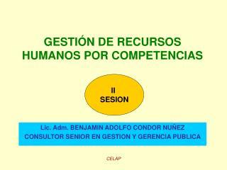 GESTI�N DE RECURSOS HUMANOS POR COMPETENCIAS