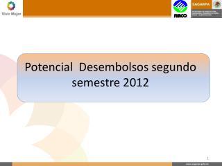 Potencial  Desembolsos segundo semestre 2012