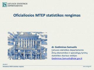 Oficialiosios MTEP statistikos rengimas