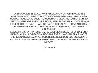 LA EDUCACION segun durkheim
