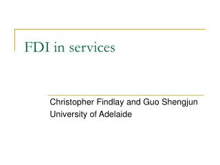 FDI in services