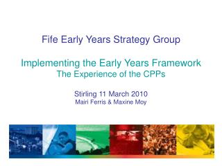 Fife Early Years Strategy Group Membership