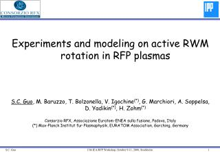 Experiments and modeling on active RWM rotation in RFP plasmas