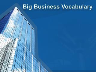 Big Business Vocabulary