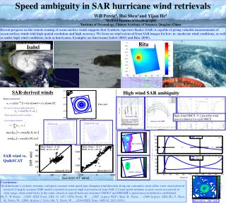 Speed ambiguity in SAR hurricane wind retrievals