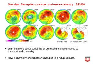Overview: Atmospheric transport and ozone chemistry    SS2008